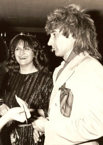 Maggie Abbott with Rod Stewart.