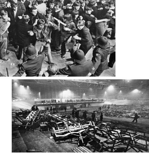 RIOT & THE AFTERMATH, APRIL 1967, ZURICH, SWITZERLAND: More than 12,000 fans reportedly ripped up seats and clashed with police at this Stones concert.