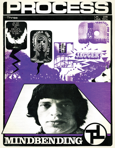 Mick Jagger on the cover of 'Process Magazine.'