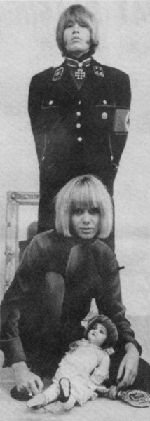 CONTROVERSIAL PHOTO-SHOOT: Brian in Nazi garb with Anita.