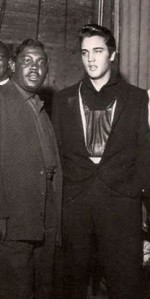 Elvis with R&B singer, Bobby 'Blue' Bland.