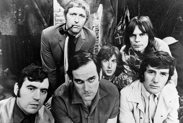 BACK IN THE DAY - The Pythons pictured in 1969. From left to right (front); Terry Jones, John Cleese, Michael Palin.. From left to right (back); Graham Chapman, Eric Idle, Terry Gilliam.