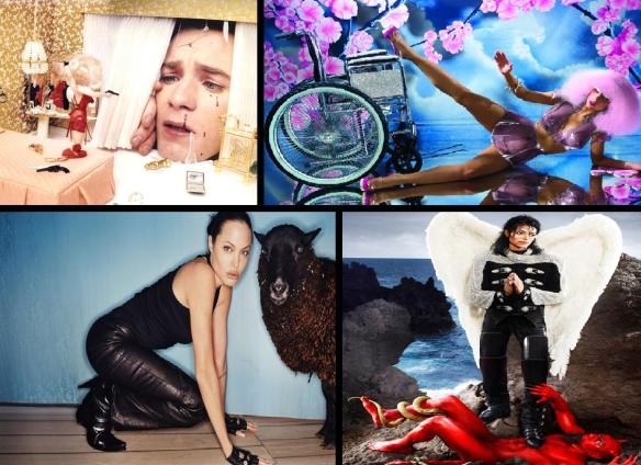 LaCHAPELLE COLLECTION: From Top-left clockwise; Ewan McGregor, Lady Gaga, Michael Jackson, Angelina Jolie.