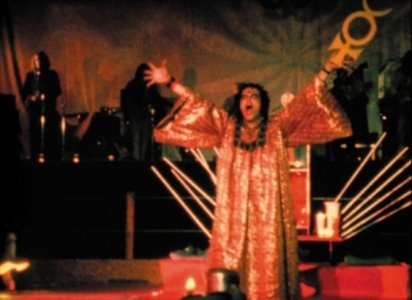 Kenneth Anger performing his ceremony on 'Invocation of My Demon Brother.'