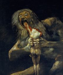 'Saturn Devouring His Son' by Francisco Goya. (1819)