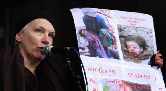 annie lennox january 10th gaza rally 2009
