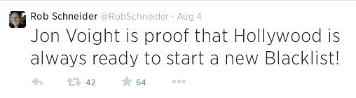 Rob Schneider tweet aug 4