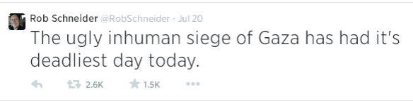 Rob Schneider tweet july 20