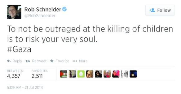 Rob Schneider tweet july 21
