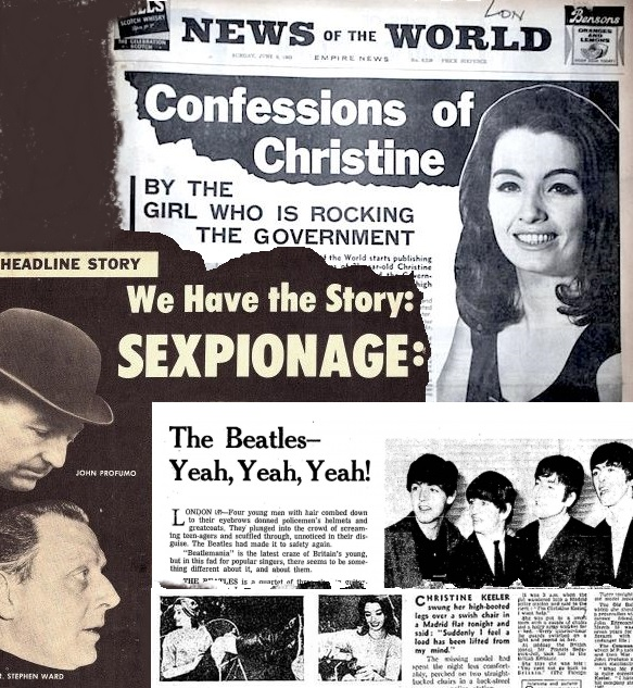 Christine Keeler. Scandal from A Small World banner